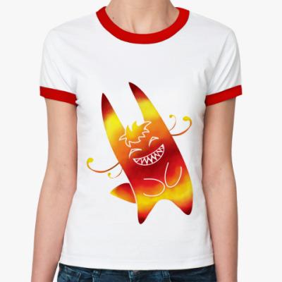 Женская футболка Ringer-T Солнечный зайчик