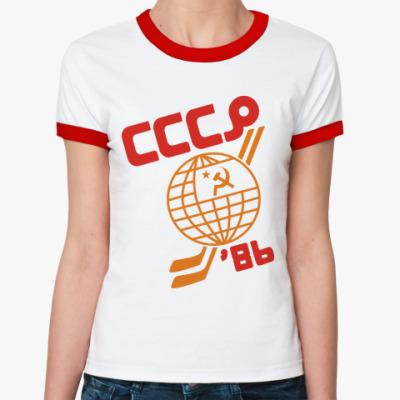 Женская футболка Ringer-T   СССР 1986
