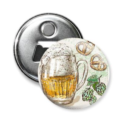 Магнит-открывашка I love beer