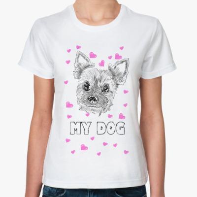 Классическая футболка Love my little dog