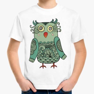 Детская футболка Зеленая лесная совушка