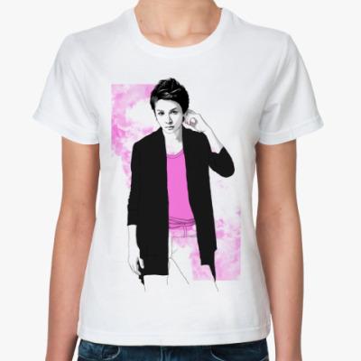 Классическая футболка Ж.ф. Тома роз. облака