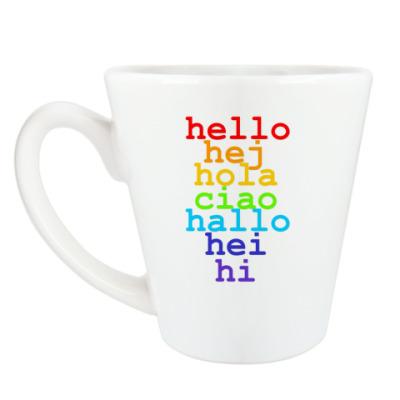 Чашка Латте 'Hello'