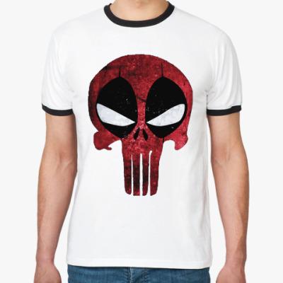 Футболка Ringer-T Дэдпул: Каратель / Deadpool