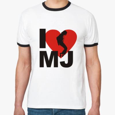 Футболка Ringer-T I love MJ