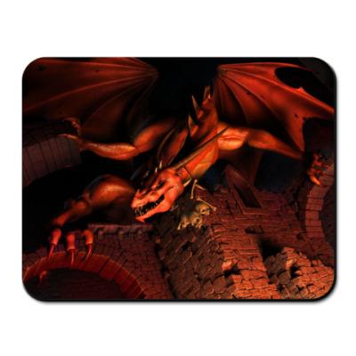 Коврик для мыши 'Красный дракон'