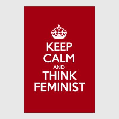 Постер Think feminist