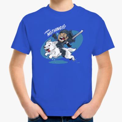 Детская футболка Джон Сноу - Я ничего не знаю!