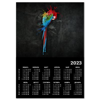 Календарь Попугай A4