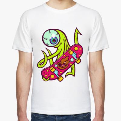 Футболка Инопланетянин на Скейте