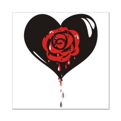Наклейка (стикер) Роза