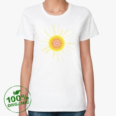 Женская футболка из органик-хлопка  Sun