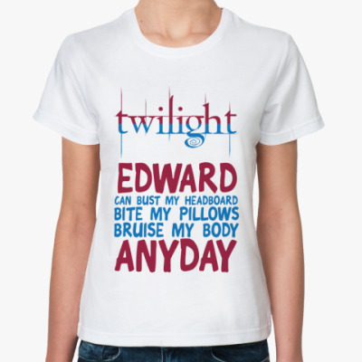 Классическая футболка Edward anyday