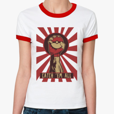 Женская футболка Ringer-T Поймай всех