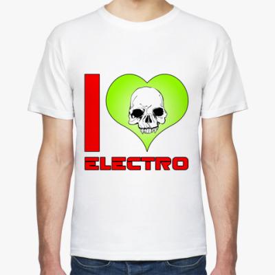 Футболка I love electro