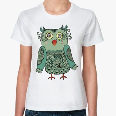 Классическая футболка Лесная совушка