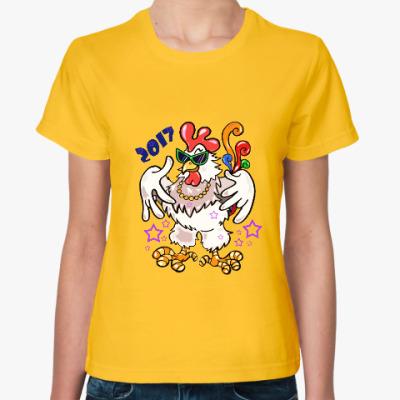 Женская футболка Год Петуха