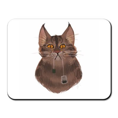 Коврик для мыши Чайный кот
