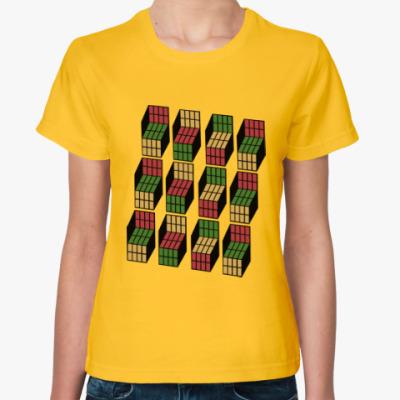 Женская футболка оптические блоки