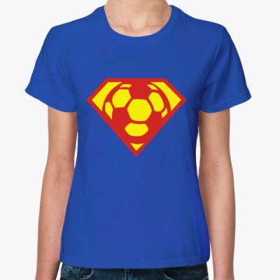 Женская футболка  супер-мяч