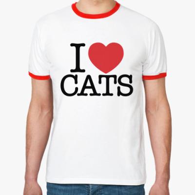 Футболка Ringer-T я Люблю кошек