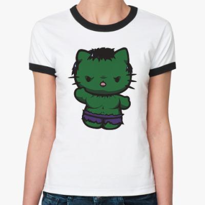 Женская футболка Ringer-T Китти Халк