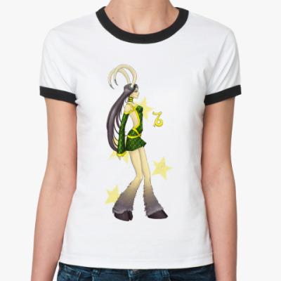 Женская футболка Ringer-T   'Козерог'