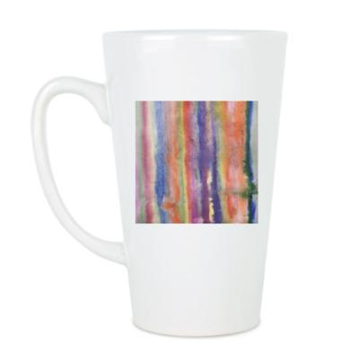 Чашка Латте Акварель