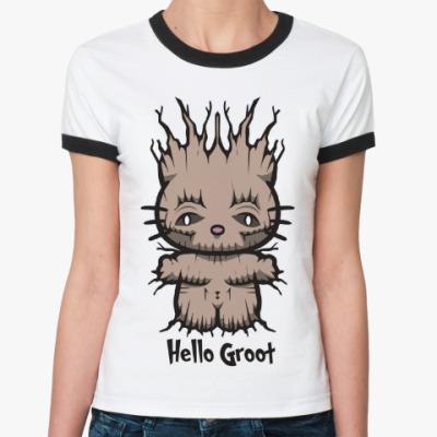 Женская футболка Ringer-T Привет Грут