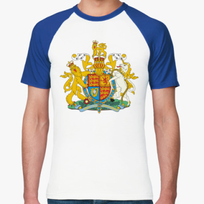 Футболка реглан Герб Великобритании