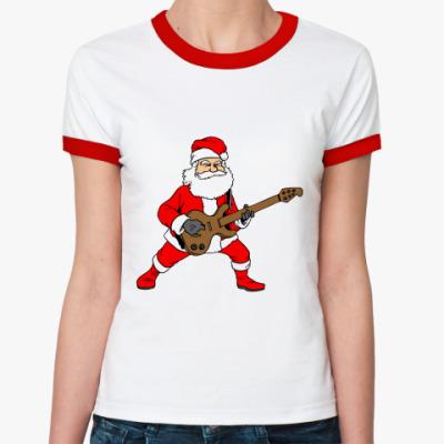 Женская футболка Ringer-T Санта Рок