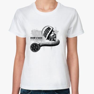 Классическая футболка D'n'B music revolution