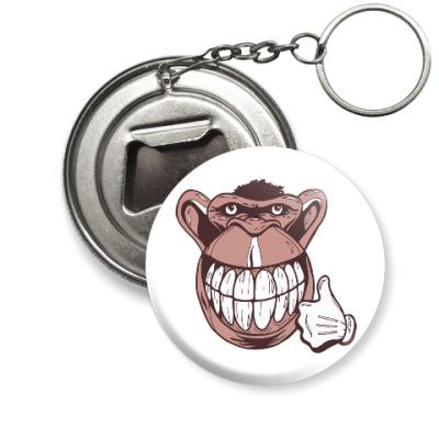 Брелок-открывашка Веселая обезьяна