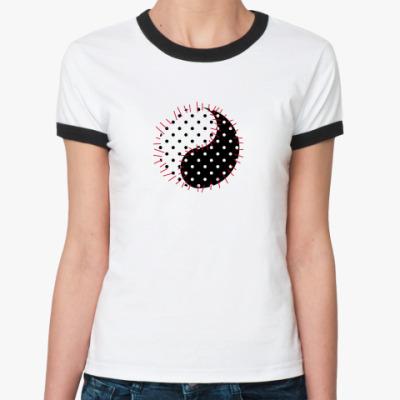 Женская футболка Ringer-T инь янь