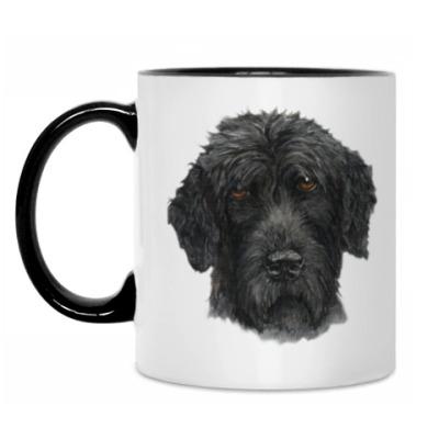 Кружка Русский черный терьер собака