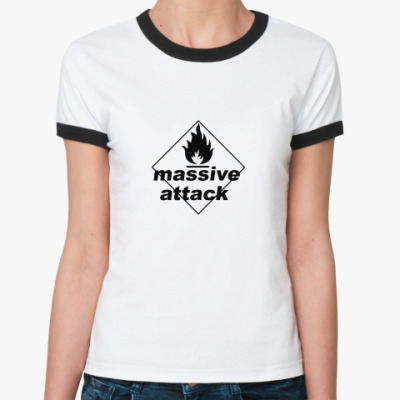 Женская футболка Ringer-T Massive Attack