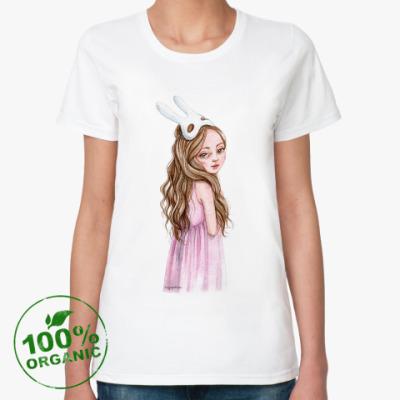 Женская футболка из органик-хлопка Спящая красавица