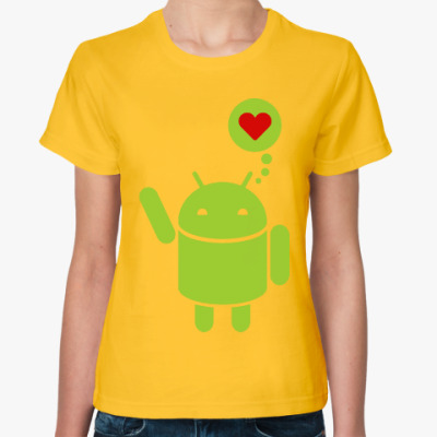 Женская футболка Love Android