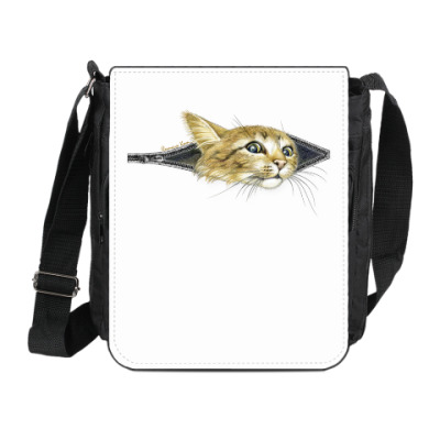 Сумка на плечо (мини-планшет) Внутренний Кот)