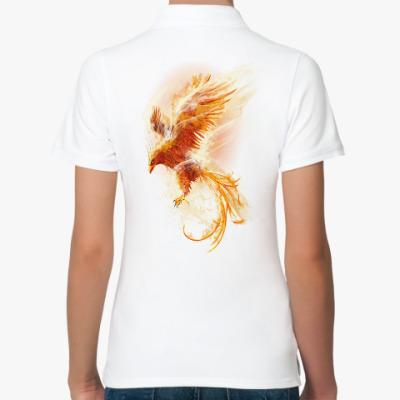 Женская рубашка поло Птица Феникс Fenix bird