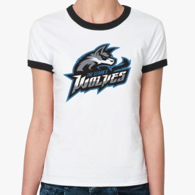 Женская футболка Ringer-T Волки Старков