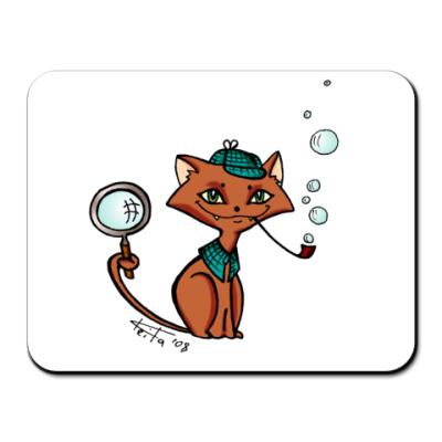Коврик для мыши Коврик Котик-детектив