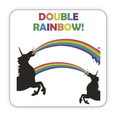 Костер (подставка под кружку) Двойная радуга