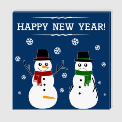 Холст Happy Snowman