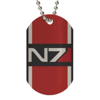 Жетон dog-tag Военный код Альянса из игры 'Mass Effect'