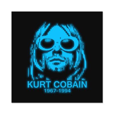 Наклейка (стикер)  Kurt Cobain