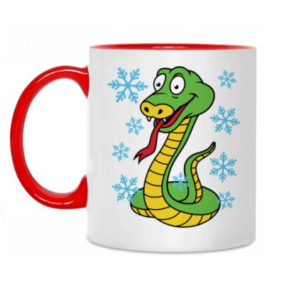 Кружка Новогодняя змея
