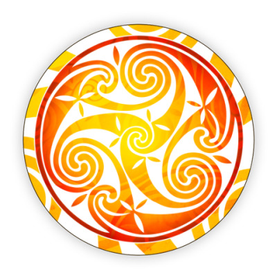 Костер (подставка под кружку) Огненный трискель