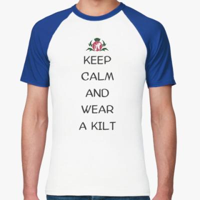 "Футболка реглан Мужская футболка реглан ""Keep calm"""