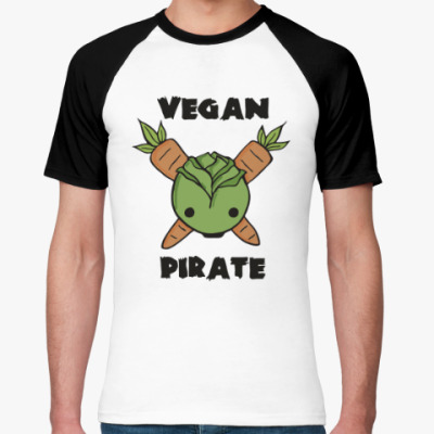 Футболка реглан Веган пират